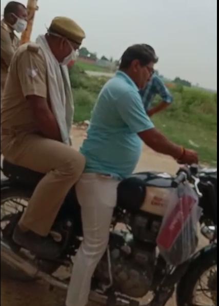 चोरी की मोटरसाइकिल के साथ भाजपा नेता का रिश्तेदार गिरफ्तार