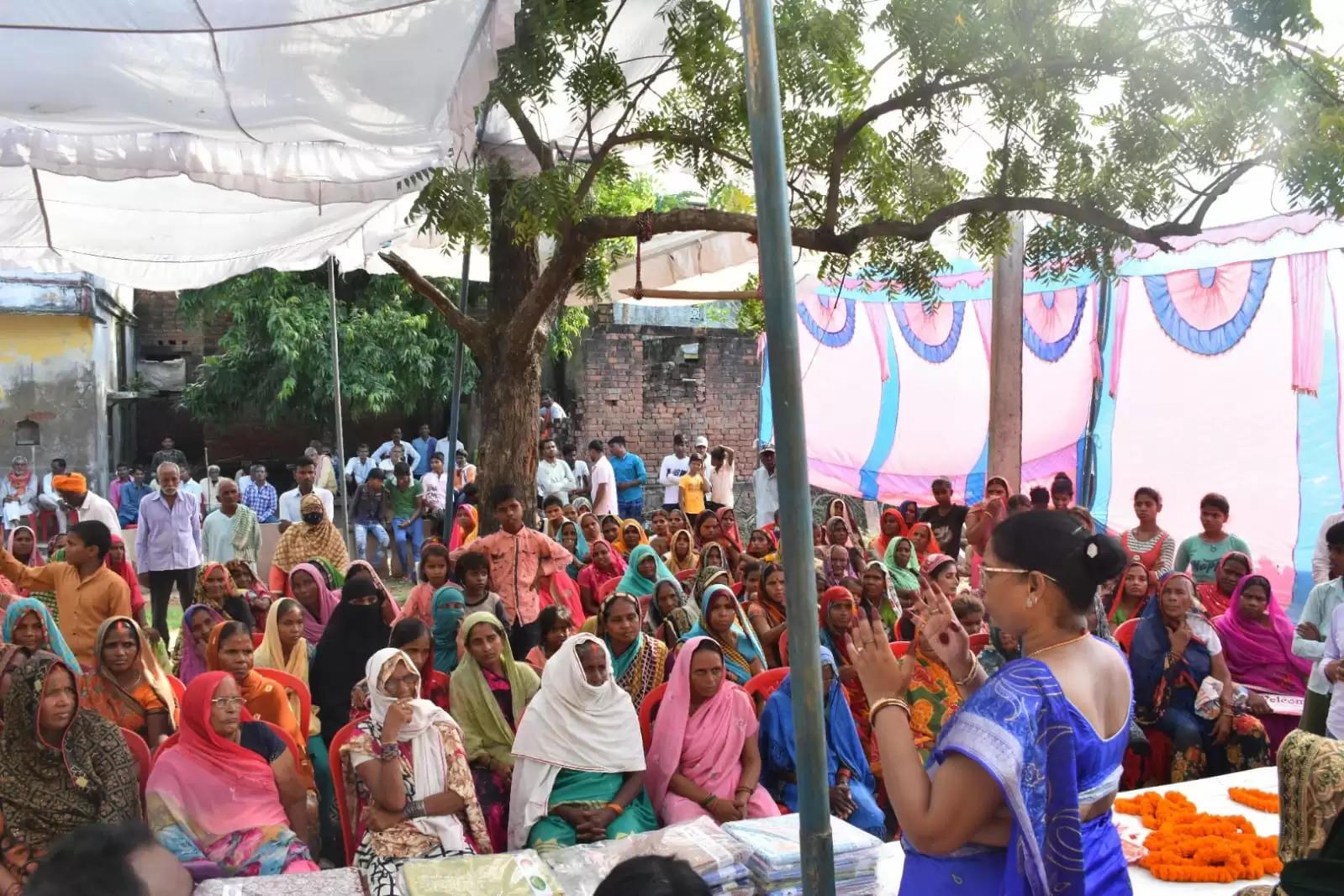 MLA Sadhna Singh listened  problems of villagers