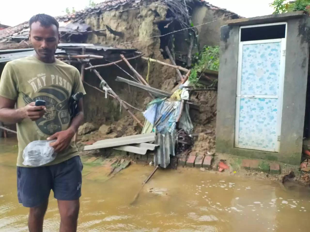 Heavy Raining in Dhanapur Area chandauli