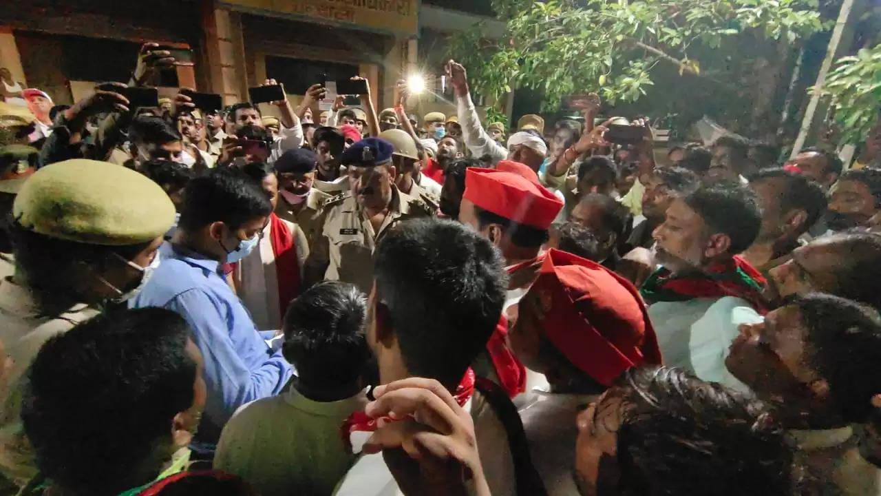 Samajwadi Party protest