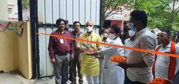Oxygen Plant Chandauli Zila Hospital MLA Sushil Singh