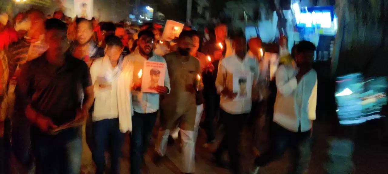 Candle March for Satyam Singh rajput karni sena