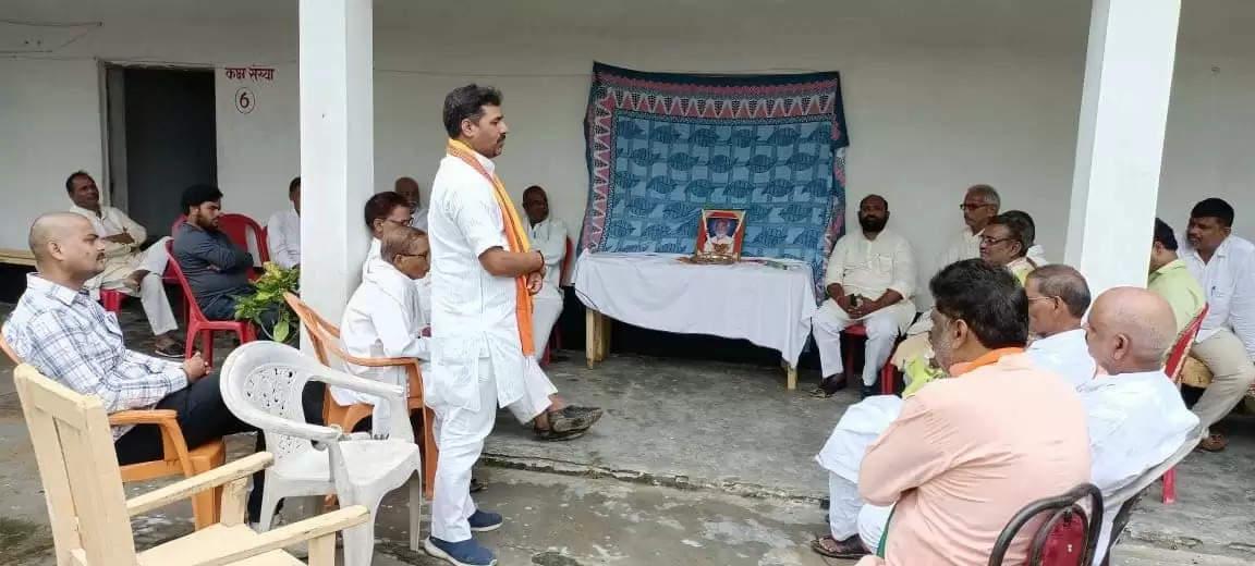 Tribute to Sechan Yadav by BJP Leaders