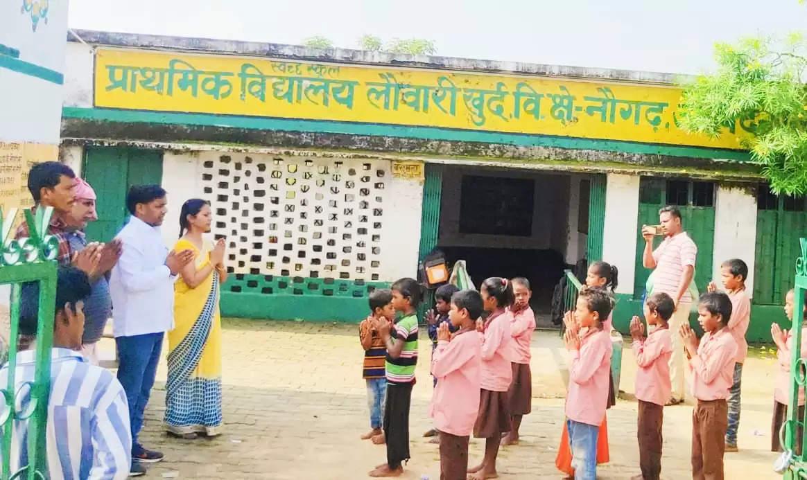 Pradhan of school opened  lock